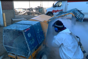 Dry Ice Blasting - Dry ice-blasting is a form of abrasive blasting, where dry ice, the solid form of carbon dioxide, is accelerated in a pressurized air stream and directed at a surface in order to clean it.