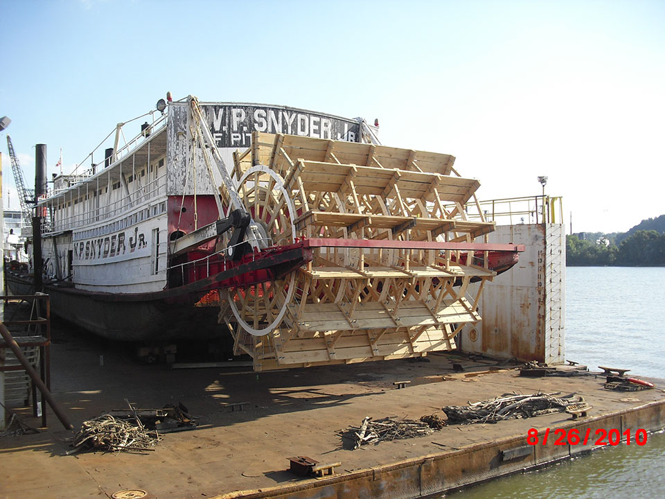 1 WP Snyder Jr Paddle Wheel Boat Restoration 1