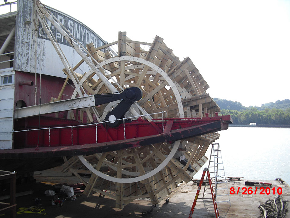 3 WP Snyder Jr Paddle Wheel Boat Restoration 3